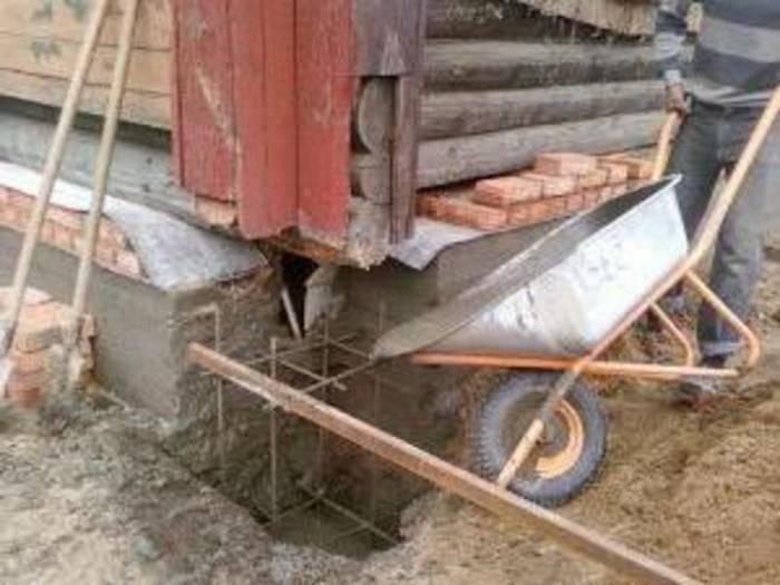 Частичный ремонт фундамента