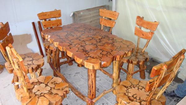 Как сделать мебель из дерева своими руками кухню 81