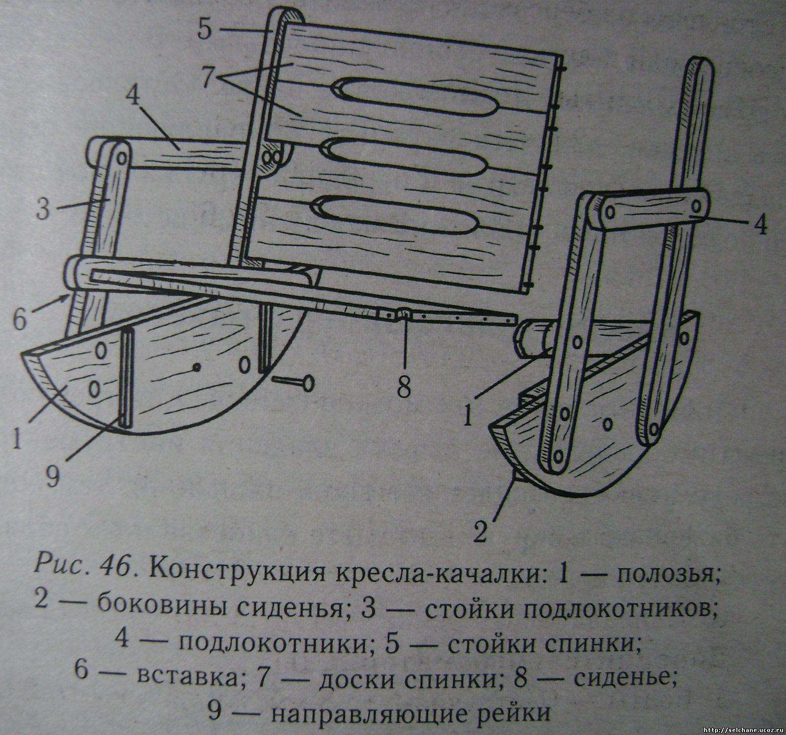 Кресло из дерева своими руками чертежи фото 961