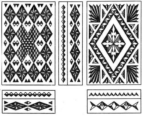 chertezhi-geometricheskoy-rezby-po-derevu-predstavlyayut-soboy-gotovyy-ornament-na-bumage Техника черчения рисунка для резьбы по дереву. Геометрическая резьба по дереву для начинающих
