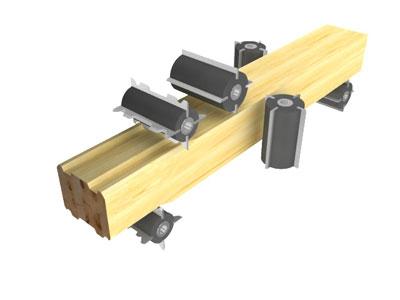 Четырехсторонний станок может иметь до шести барабанов, что позволяет добиться высочайшего качества обработки