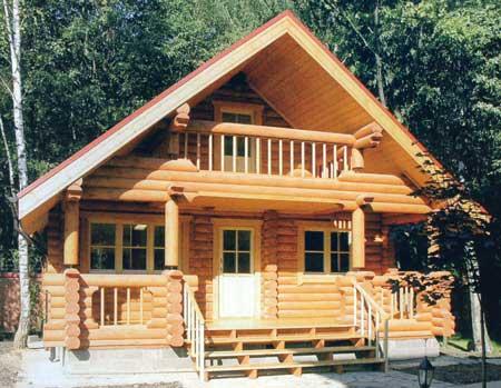 Дачный дом из бревна может быть разной этажности