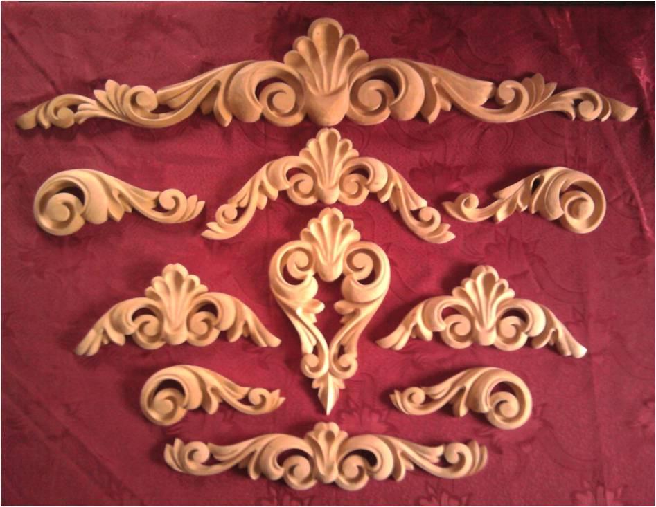 Декоративные накладки на мебель из дерева – комплект