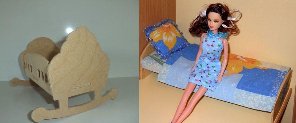 delaem-kolybel-i-krovat-dlya-kukly-svoimi-rukami-iz-fanery Как сделать кровать для куклы - мастер-класс