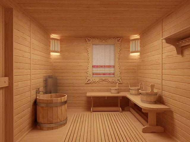 Деревянная баня выглядит прекрасно