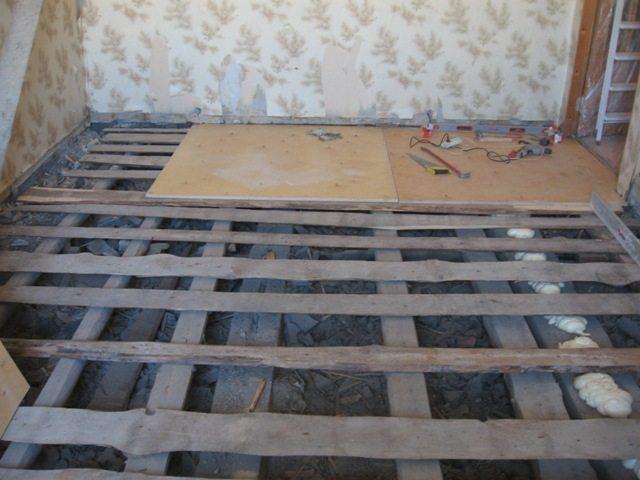 Деревянная обрешетка под фанеру на пол из разного пиломатериала