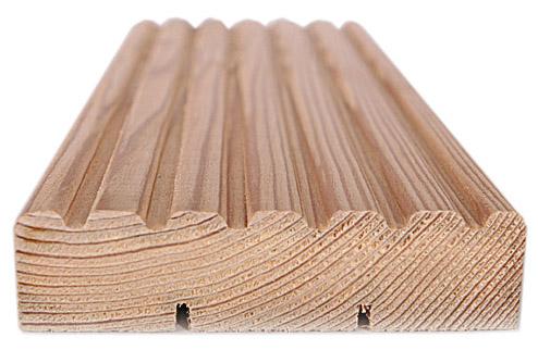 Деревянная террасная доска из лиственницы