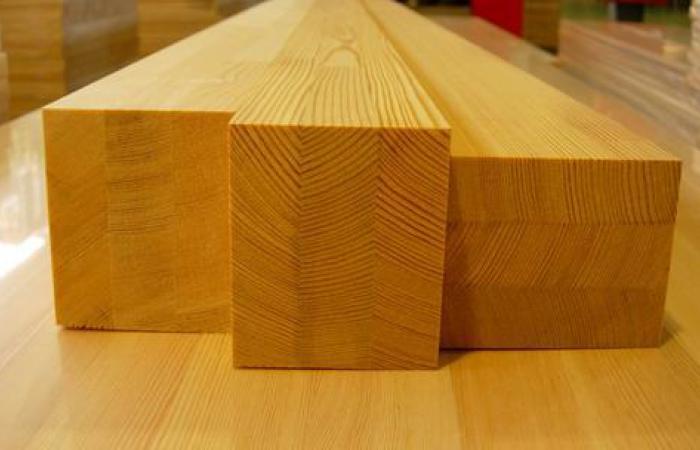 Деревянные изделия, склеенные из отдельных ламелей