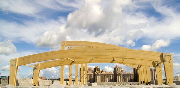 Деревянные клееные конструкции активно используются в современном строительстве.