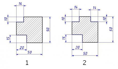 Деревянные профили: 1 – на одно стекло; 2 – на два стекла