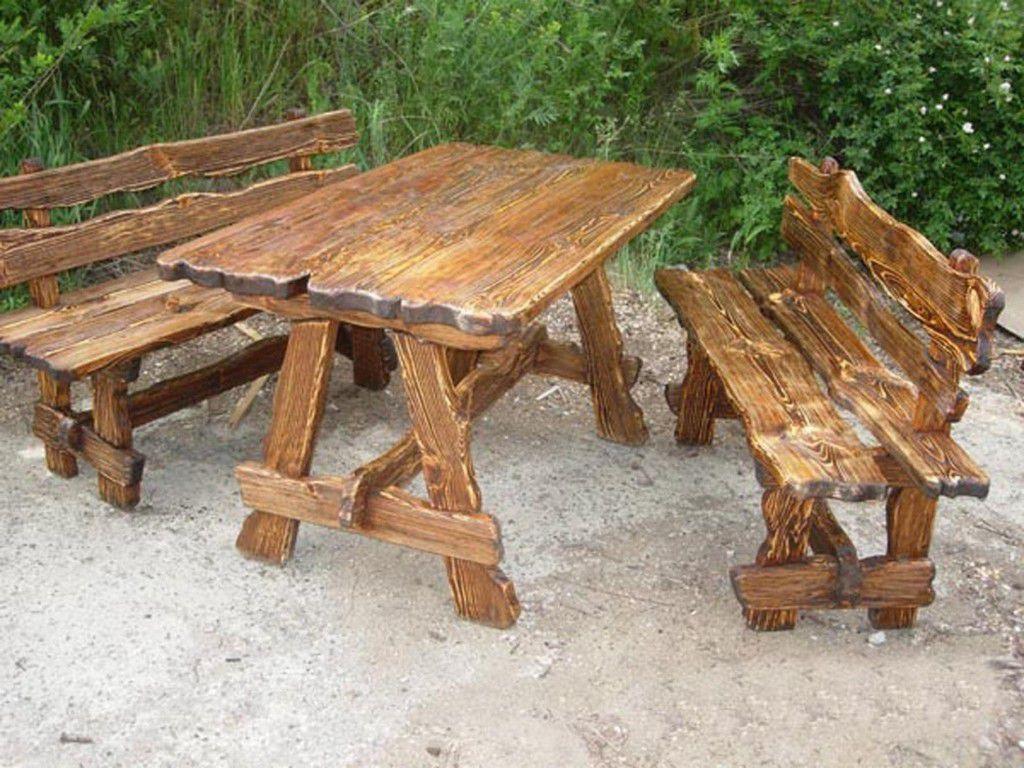 Стол и скамейки из дерева своими руками фото 160