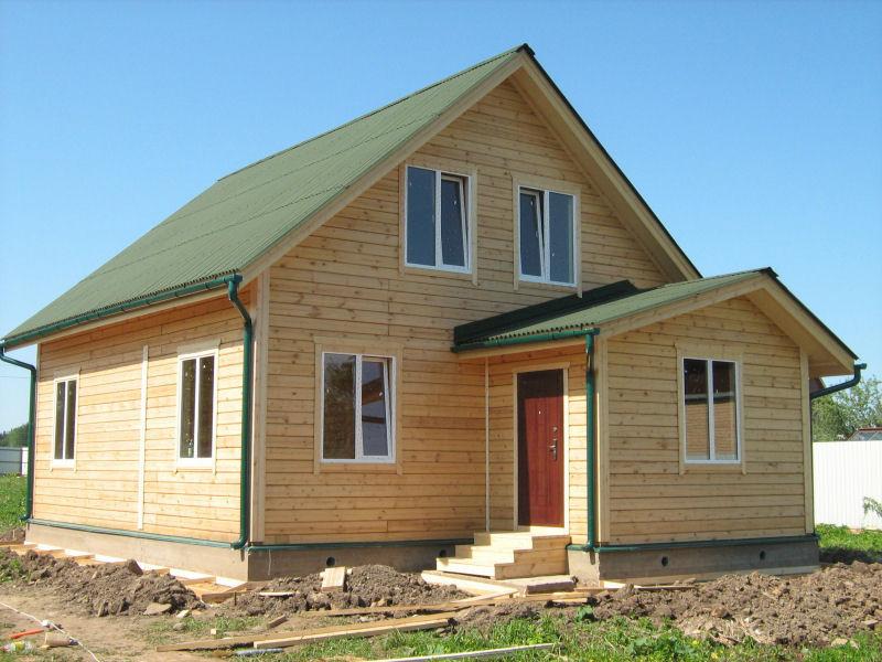 деревянный дом этаж