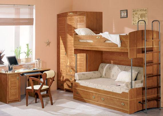 Детская спальня из экологически чистого материала