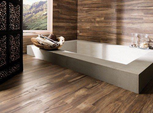 Дизайн ванной комнаты композитной плиткой