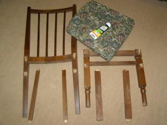 Для ремонта понадобится разборка стула