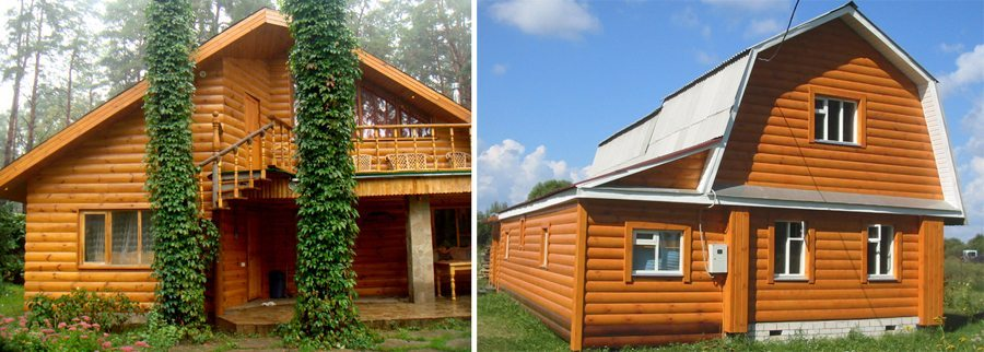 Дом, обшитый блок-хаусом не отличить от деревянного