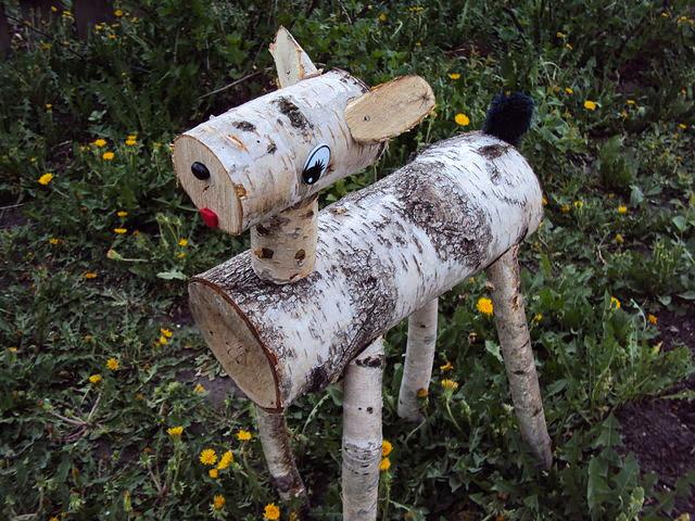 Еще один пример несложной садовой фигурки