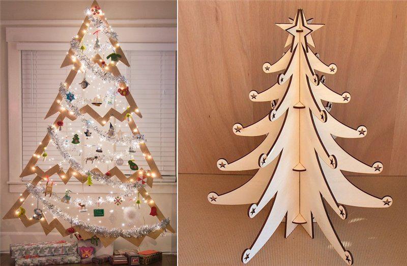 Фанерная елка для украшения дома