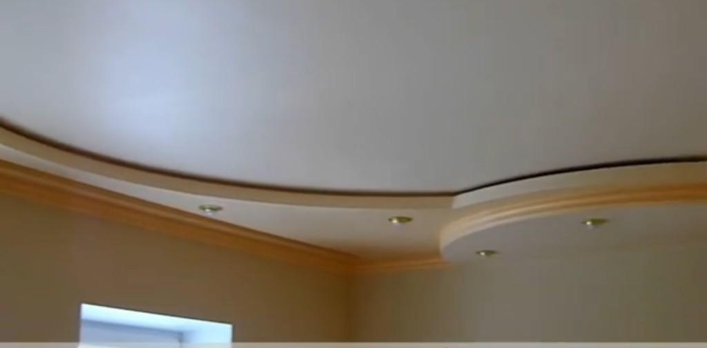Фигурные потолки из ГКЛ.