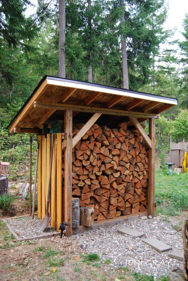 Саму поленницу потом тоже можно будет пустить на дрова
