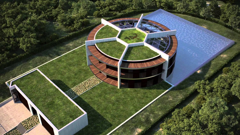 Вот этот дом оригинальной формы упорно пытаются подарить футболисту