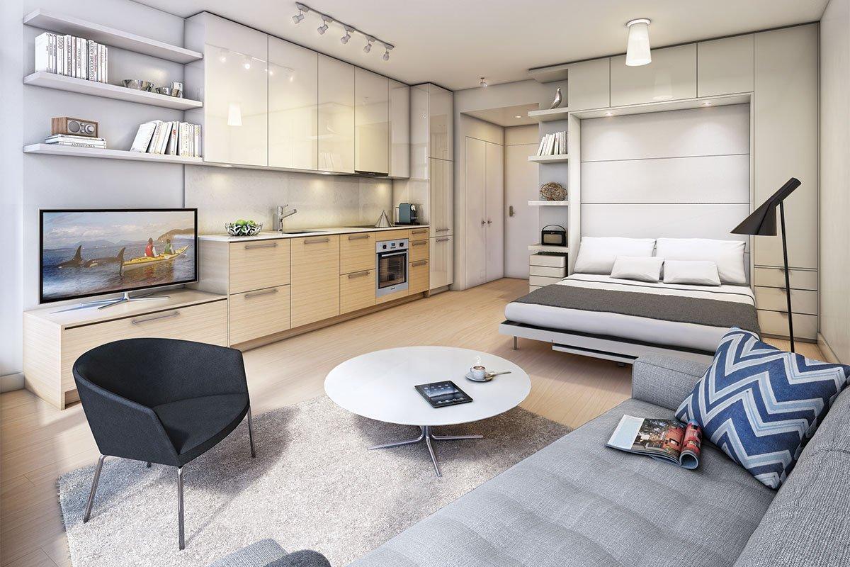 Маленькую квартиру можно отремонтировать и обставить со вкусом