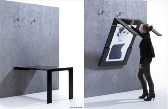 Стол в убранном состоянии может стать арт-объектом