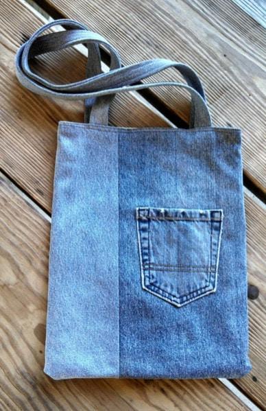 Пара часов – и старые джинсы превратятся в новую сумку