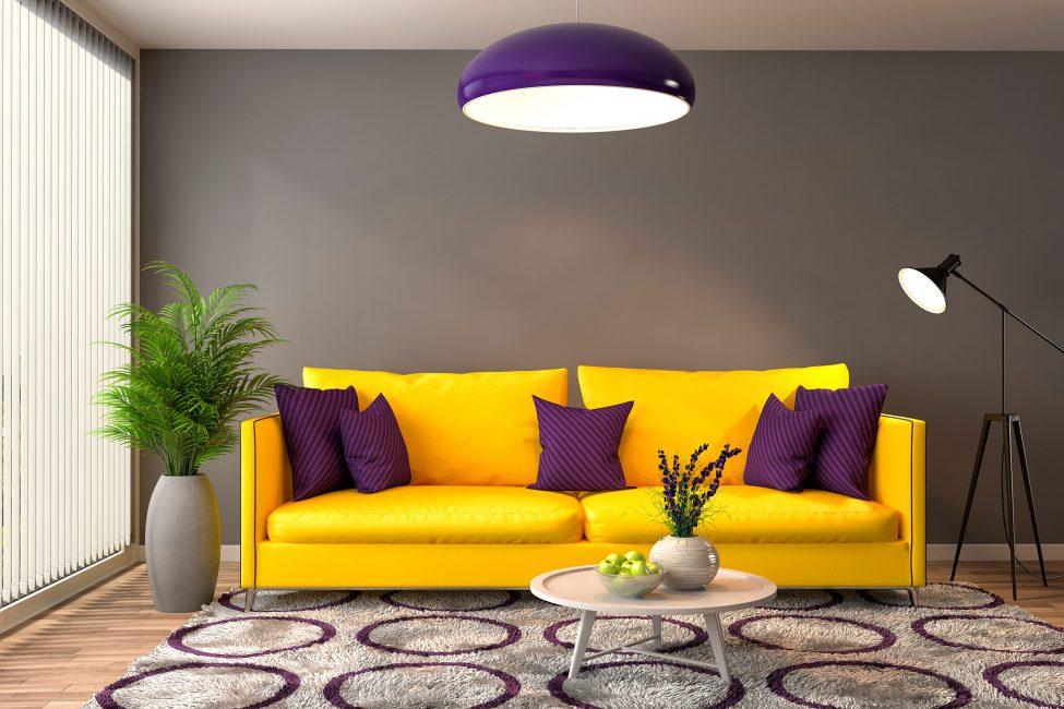 Яркий и удобный диван может оживить любую гостиную