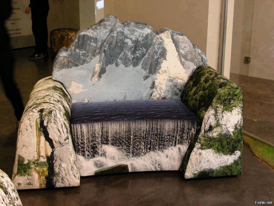 Диван-гора разбавит скучную гостиную