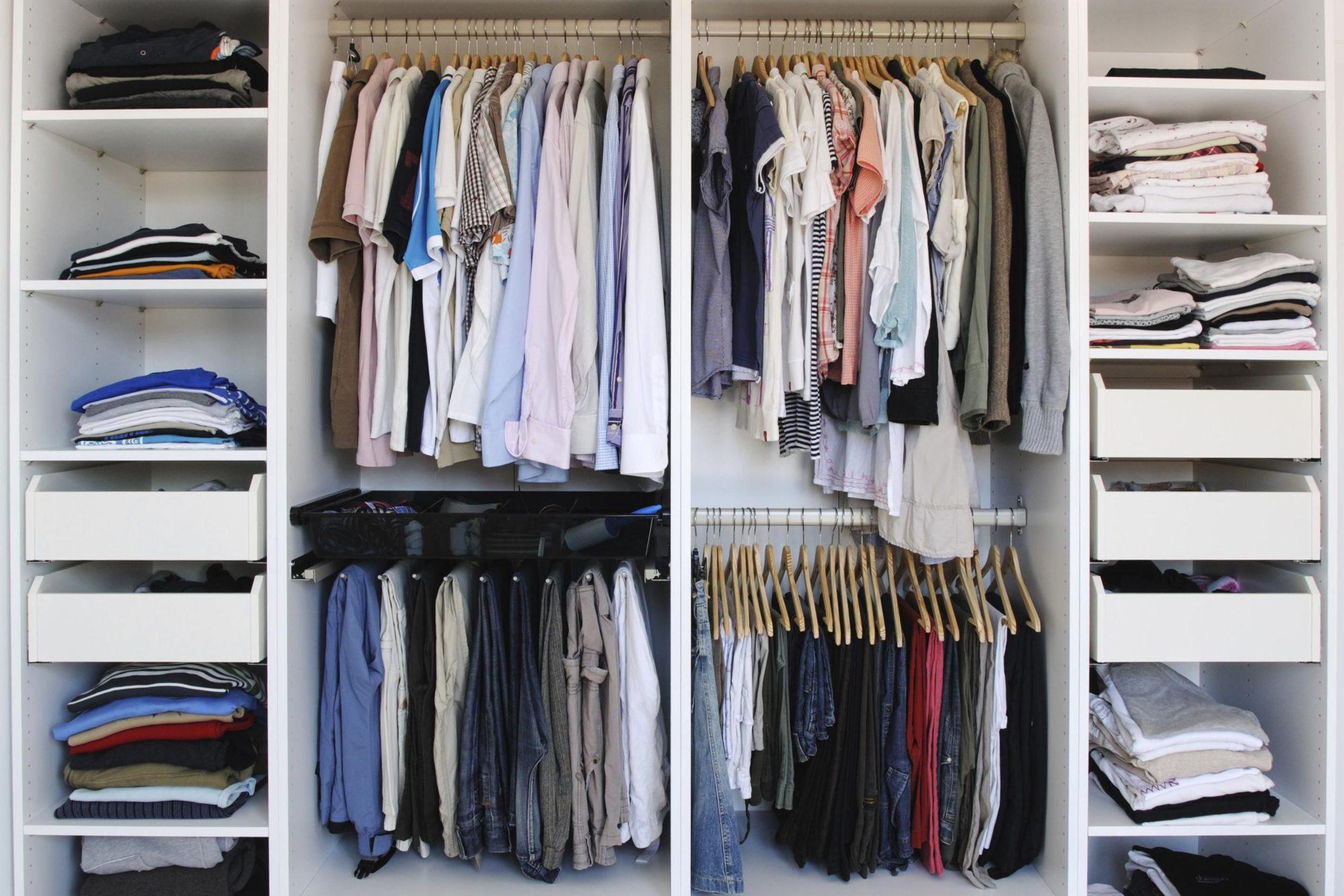 Мужская гардеробная для организованных людей