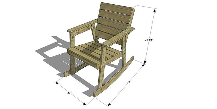 Кресло-качалка в готовом виде