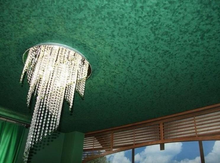 Потолок из замша