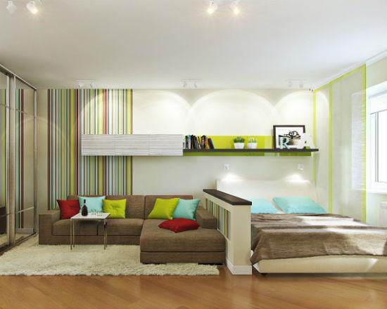 С помощью мебели можно зонировать пространство