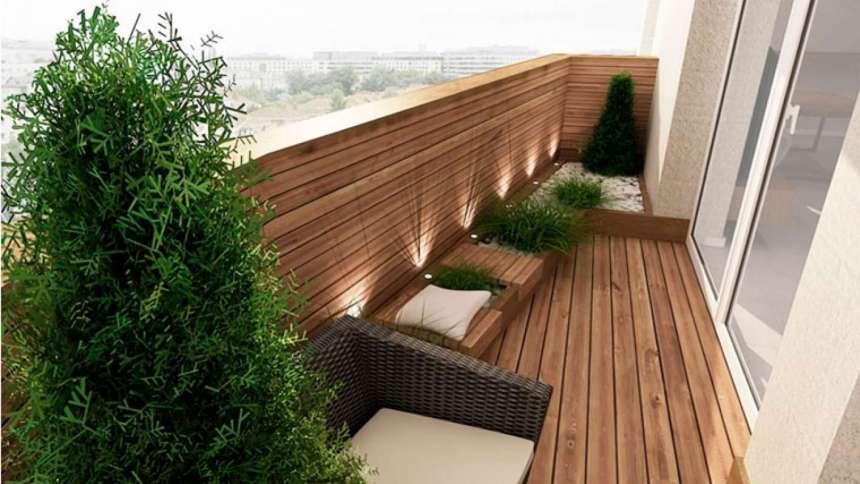 Садовый паркет придаст роскоши балкону