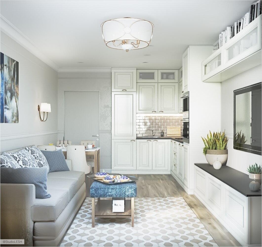Как воплотить американскую классику в интерьер маленькой квартиры?