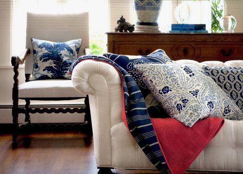 Красивый текстиль делает интерьер уютнее