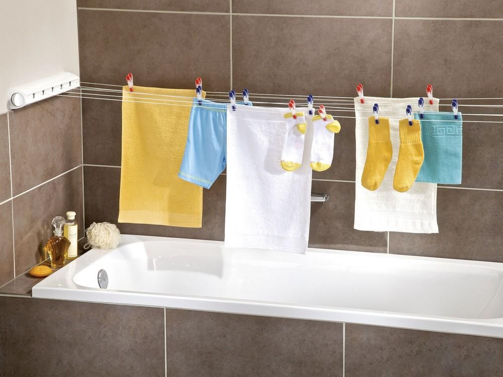 Веревкам для сушки белья не место в ванной