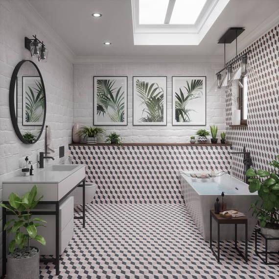 Чем можно оформить потолок в ванной комнате