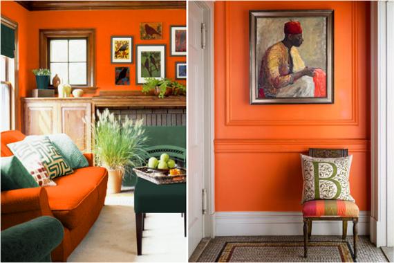 Не все считают оранжевый подходящим цветом для оформления интерьера