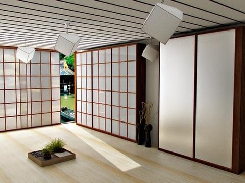 За растворившимися в интерьере дверцами могут прятаться очень вместительные системы хранения
