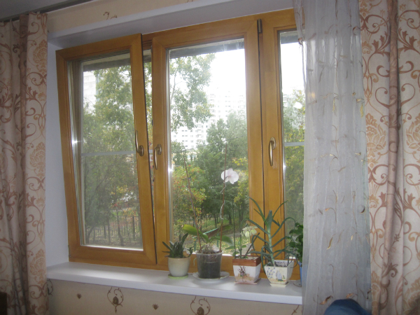 Фото деревянного окна