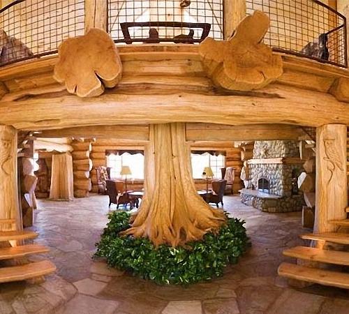 Фото деревянного сруба изнутри.