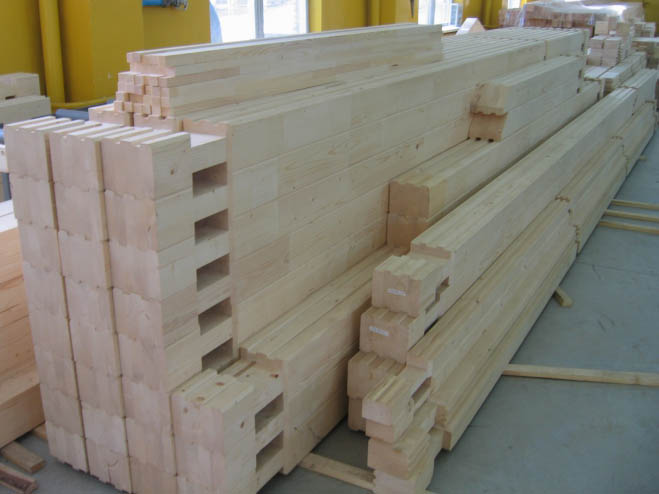 Фото комплекта заготовок для постройки бани