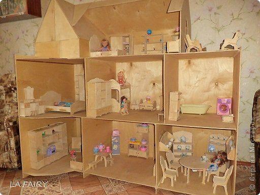Фото кукольного дома из древесно-слоистой плиты