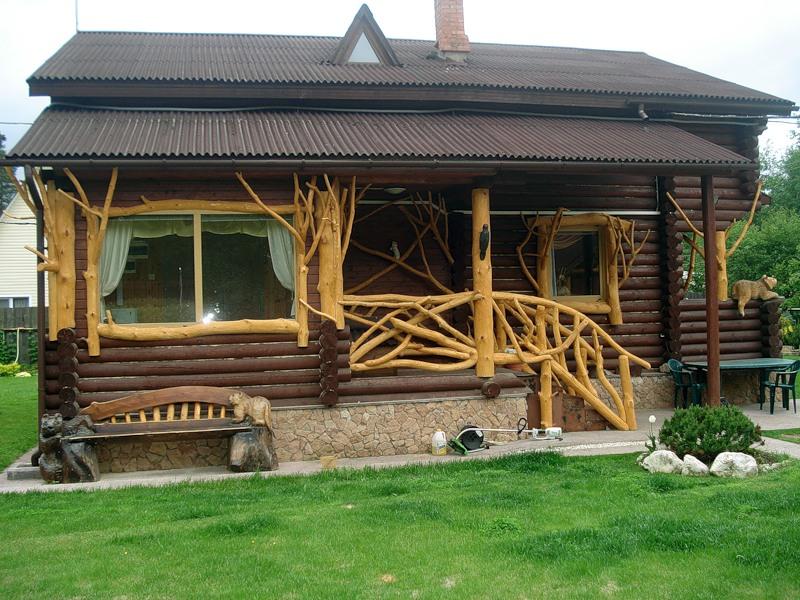 Фото оригинального деревянного крыльца