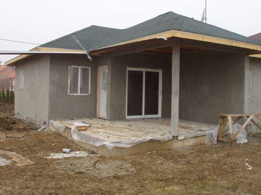 Фото оштукатуренного деревянного дома