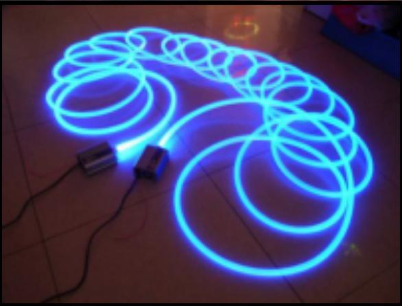 Гибкое и яркое оптоволокно позволит «нарисовать» любой светильник