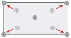Грамотное расположение прижимных элементов позволяет использовать одну рондоль сразу для четырех листов