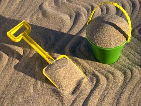 Идеально чистый покупной песок